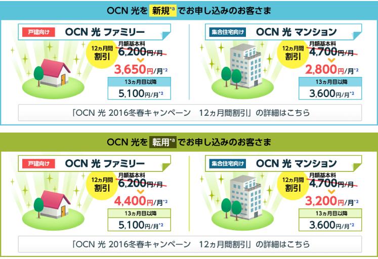 OCN光の料金